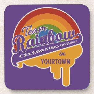 Team Rainbow custom coasters