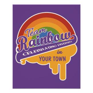 Team Rainbow custom flyers