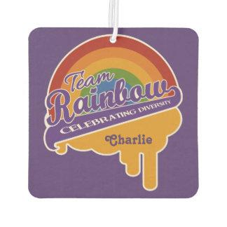 Team Rainbow custom monogram air freshner Air Freshener