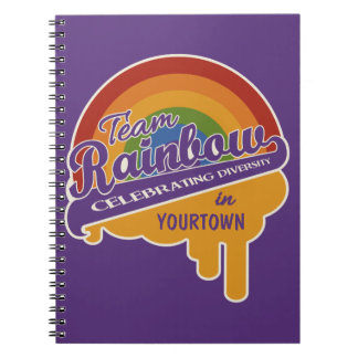Team Rainbow custom notebook