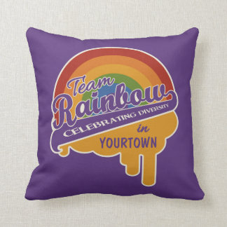 Team Rainbow custom throw pillow