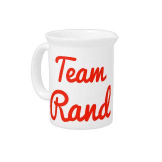 Team Rand Beverage Pitcher
