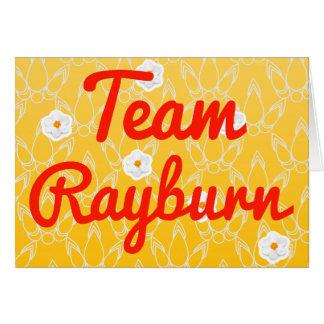 Team Rayburn Card