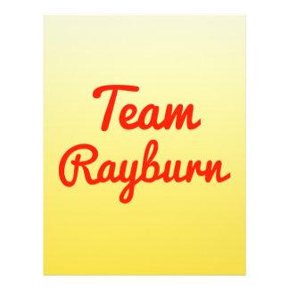 Team Rayburn Flyer Design
