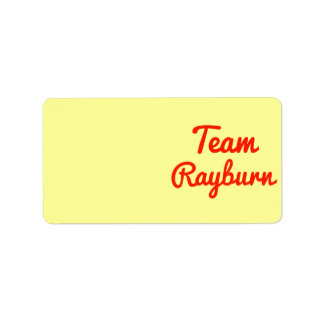 Team Rayburn Custom Address Label