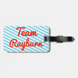 Team Rayburn Travel Bag Tags