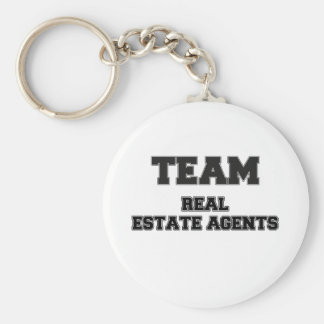 Team Real Estate Agents Basic Round Button Keychain