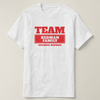 Team red personalized family or group t-shirt