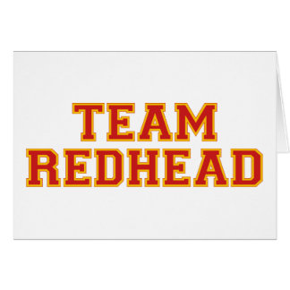 Team Redhead - Red Greeting Card