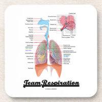 Team Respiration (Respiratory System) Beverage Coasters