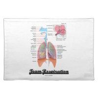 Team Respiration (Respiratory System) Cloth Placemat