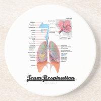 Team Respiration (Respiratory System) Coaster