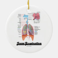 Team Respiration (Respiratory System) Double-Sided Ceramic Round Christmas Ornament