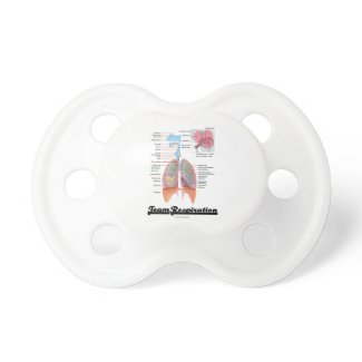 Team Respiration (Respiratory System) Baby Pacifier