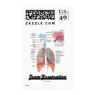 Team Respiration (Respiratory System) Stamps