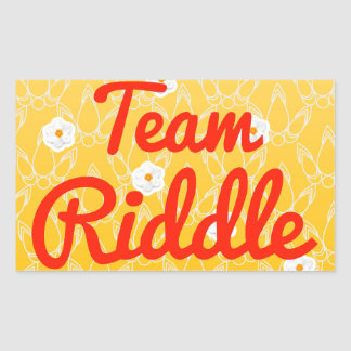 Team Riddle Rectangular Stickers