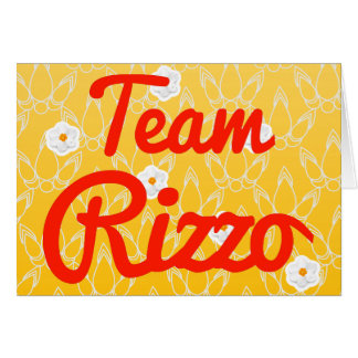 Team Rizzo Greeting Card