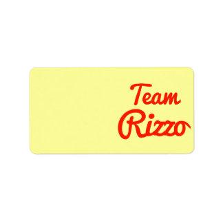 Team Rizzo Address Label