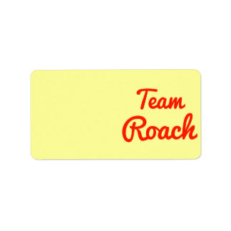 Team Roach Labels