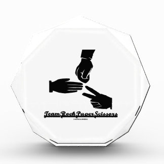 Team Rock Paper Scissors (Black and White) Award