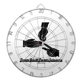 Team Rock Paper Scissors (Black and White) Dart Boards
