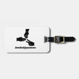 Team Rock Paper Scissors (Black and White) Tags For Bags