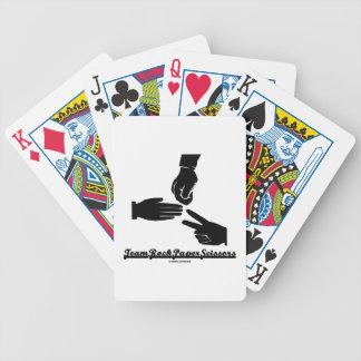 Team Rock Paper Scissors (Black and White) Card Decks