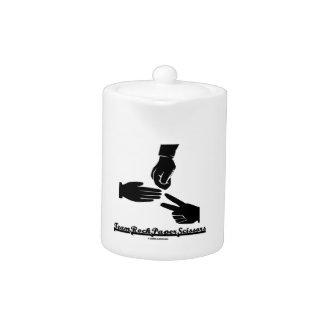 Team Rock Paper Scissors (Black and White) Teapot