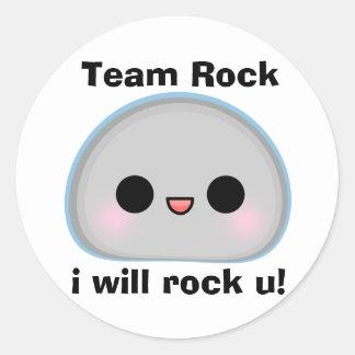 Team Rock Round Stickers