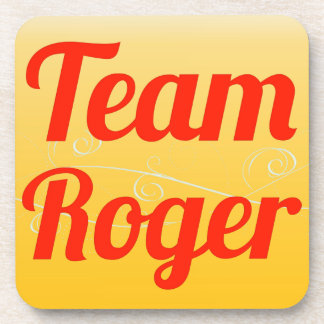 Team Roger Beverage Coasters