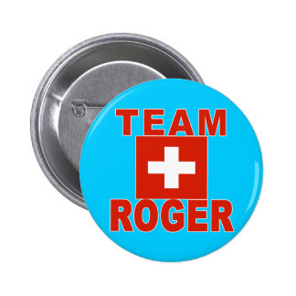 Team Roger with Swiss Flag Button
