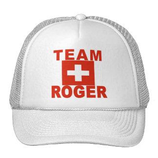 Team Roger with Swiss Flag Trucker Hat