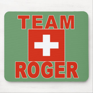 Team Roger with Swiss Flag Mouse Pad