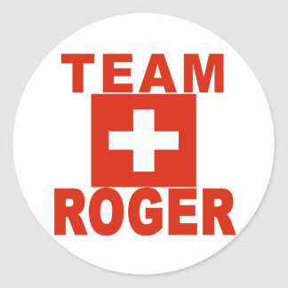 Team Roger with Swiss Flag Stickers