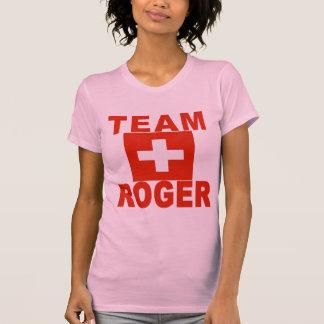 Team Roger with Swiss Flag Tee Shirt