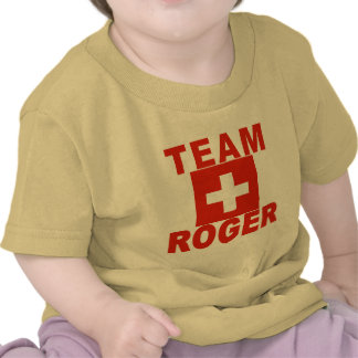 Team Roger with Swiss Flag T Shirts