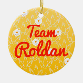 Team Roldan Double-Sided Ceramic Round Christmas Ornament