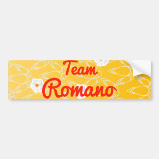 Team Romano Bumper Sticker