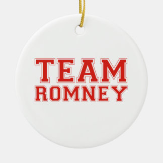 TEAM ROMNEY Double-Sided CERAMIC ROUND CHRISTMAS ORNAMENT
