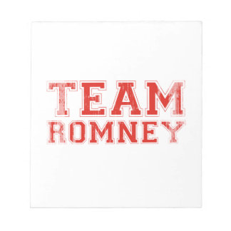 TEAM ROMNEY png Note Pad