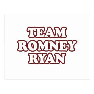 TEAM ROMNEY RYAN RED POST CARD