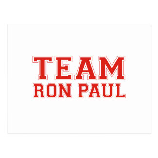 TEAM RON PAUL POSTCARD