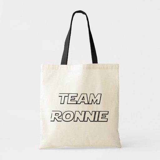 Team Ronnie Budget Tote Bag