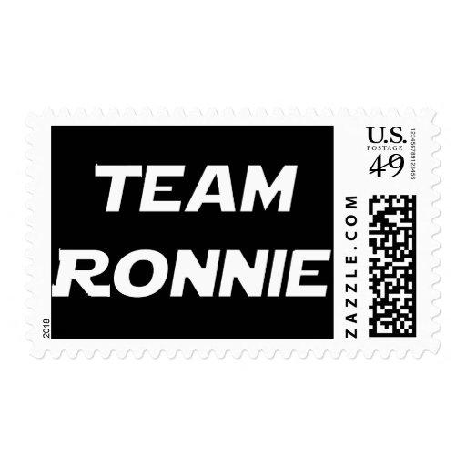 Team Ronnie Postage Stamp
