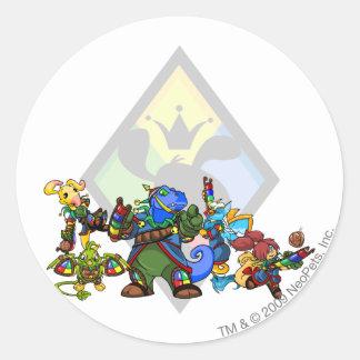 Team Roo Island Group Classic Round Sticker