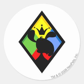 Team Roo Island Logo Classic Round Sticker