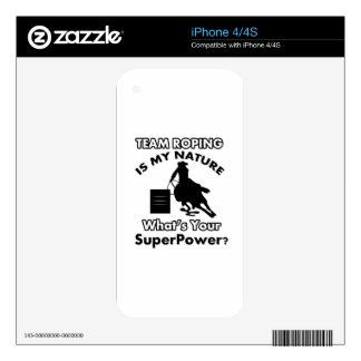 team rope design decals for iPhone 4S