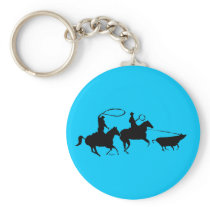 team ropers 100 keychain