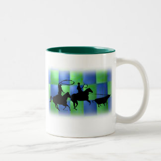 team ropers 101 Two-Tone coffee mug
