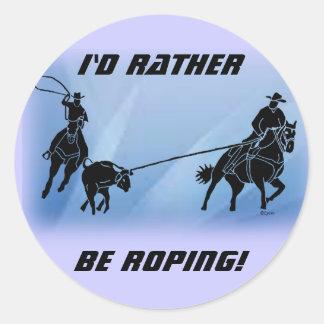 team ropers 201 classic round sticker